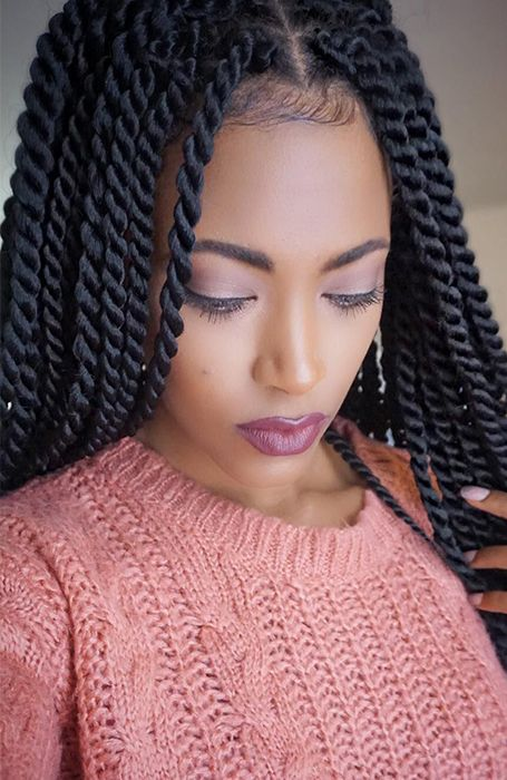 Twist Hair Braids Are Easy to Do and Are Known For Their Unique Look