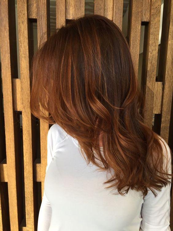 Cool Modern Warm Brown Hair Design Ideas