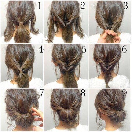 Latest Work Hairstyles – Chignon And Half Braids