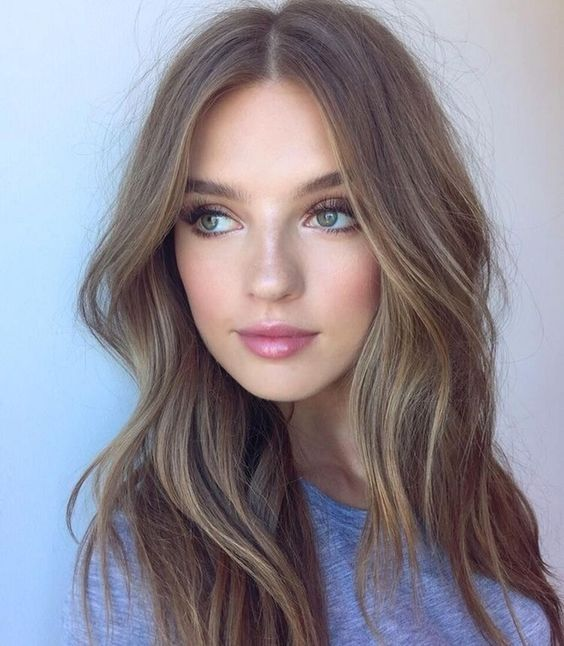 Ash Brown Hair With Highlights for Women
