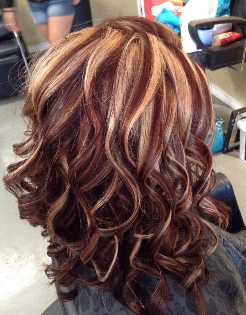 Auburn Hair Styles With blonde Highlights