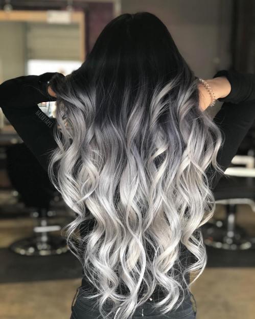 Black and Gray Hair: Latest Trendy Design Ideas