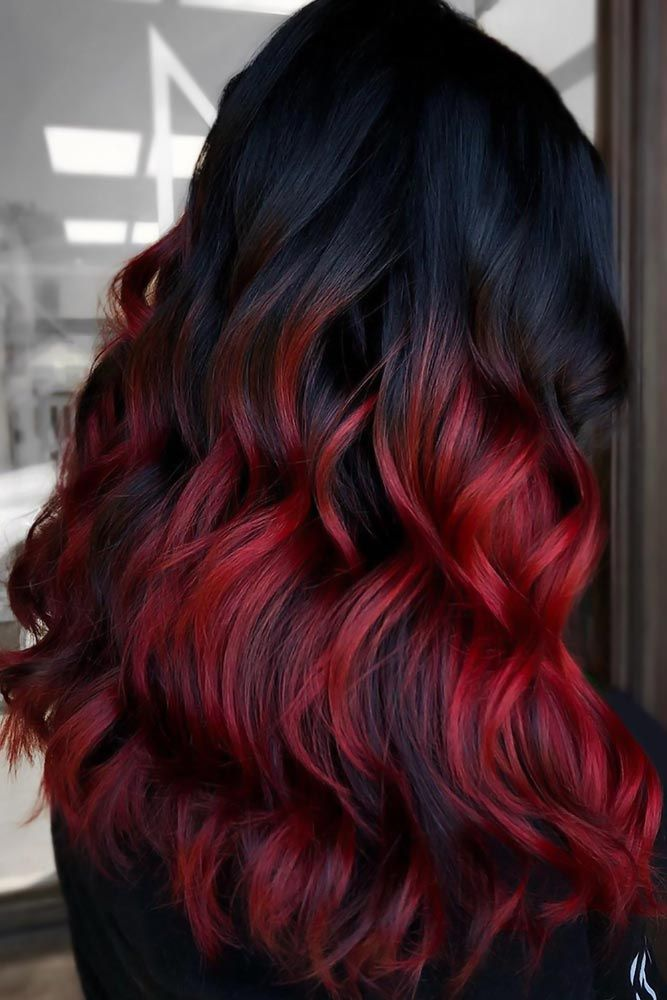 Black and Red Ombre Hair Styles For Spring