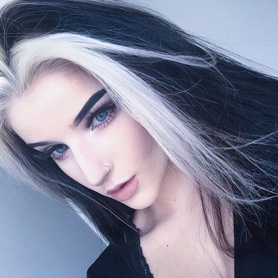 Black Hair With White Streak – Get Best Style Trend!