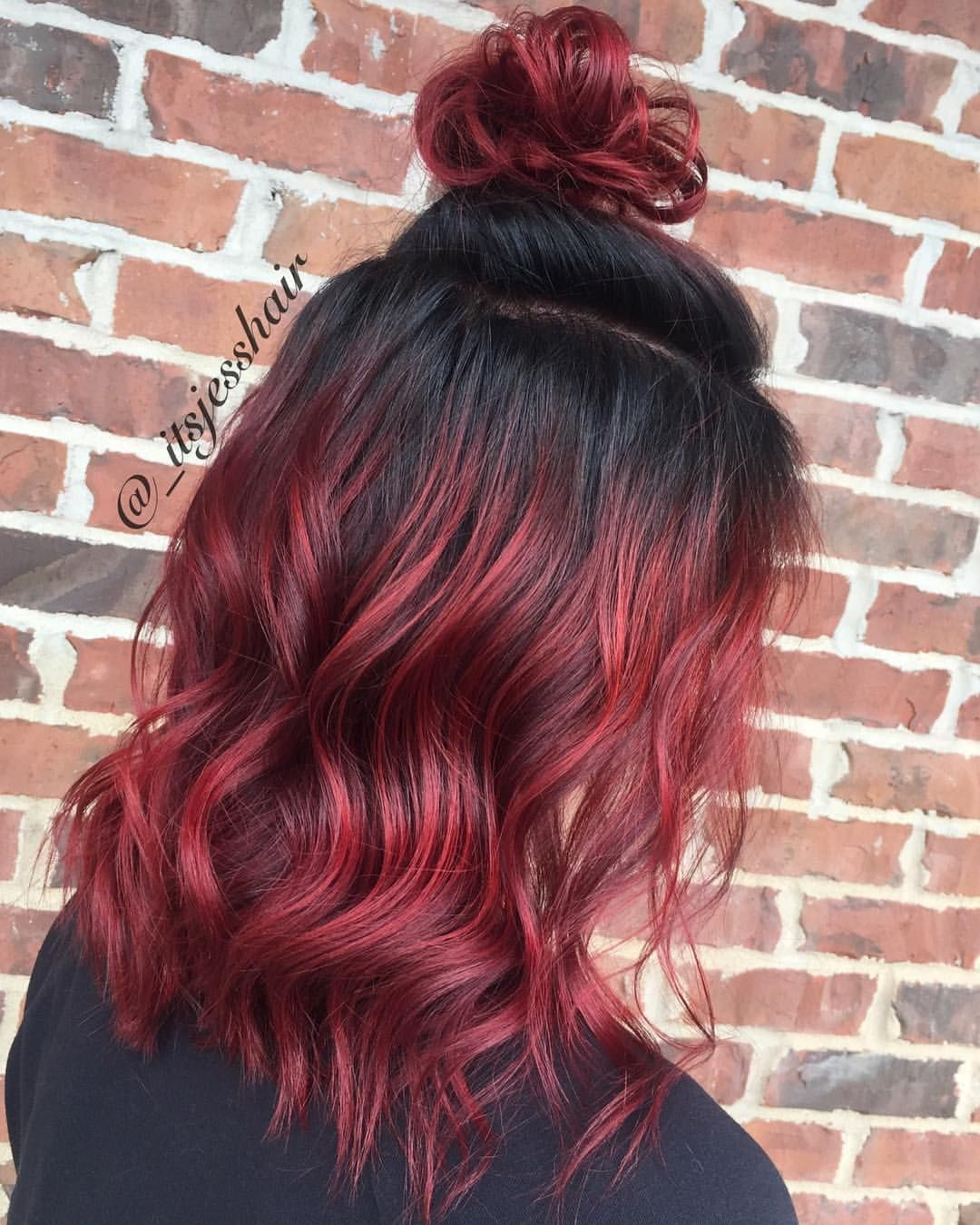 Black Roots Red Hair Design is one of the Model ideas