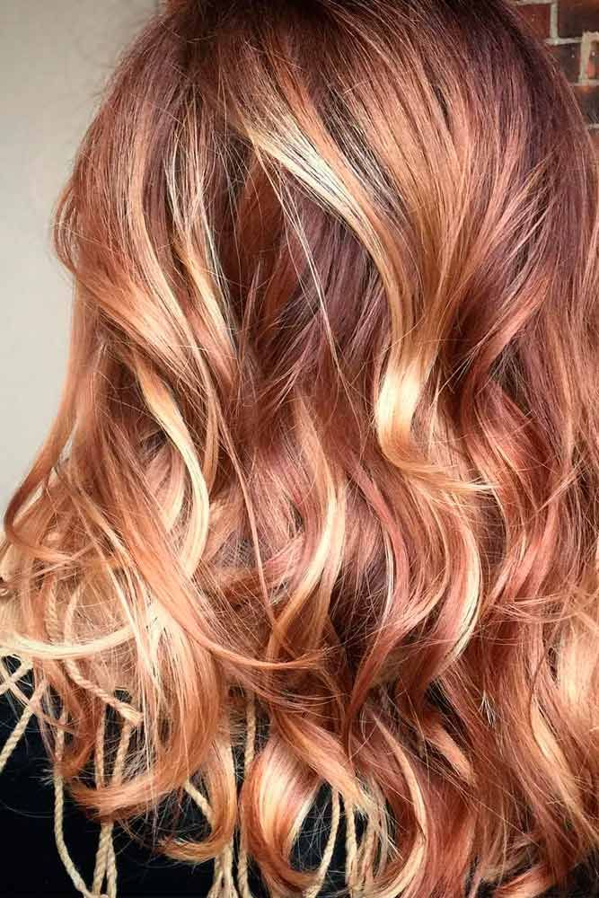 Blonde Hair with Caramel Highlights – Gets a Bang of White Hair With a Romantic Twist