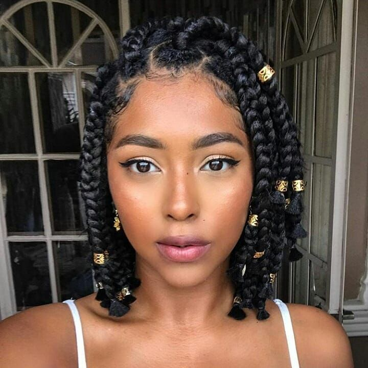 Box Braids On Short Hair Design – Today's Style Idea
