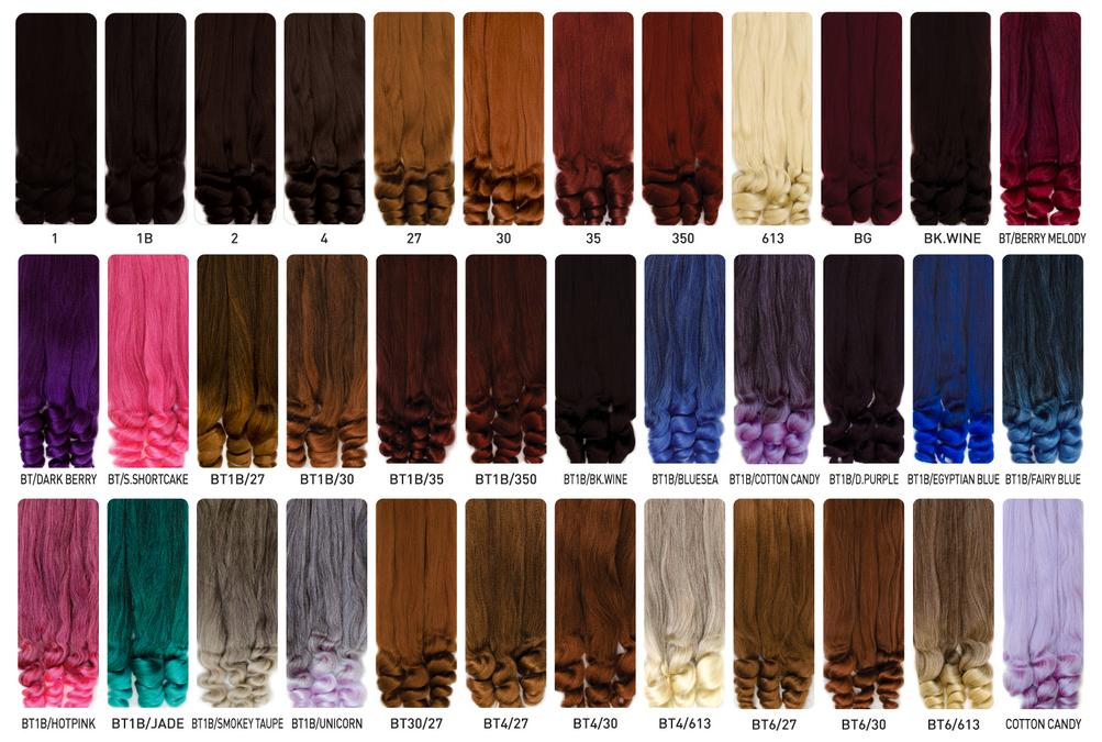 Braiding Hair Color Chart – The Most Beautiful Styles