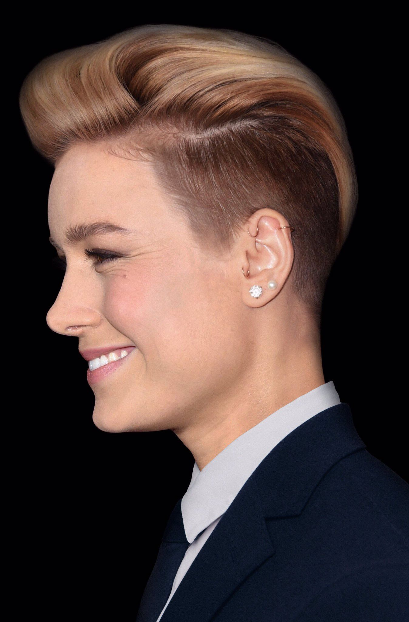 Bridal Brie Larson Short Hair Design Ideas