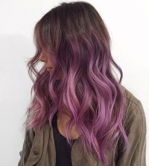 Sexy Brown And Purple Hair