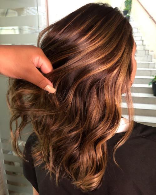 Best Style Brunette Hair Caramel Highlights