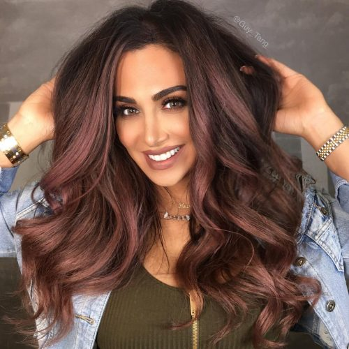 Top 5 Model Tips For Cute Burgundy Hair With Highlights