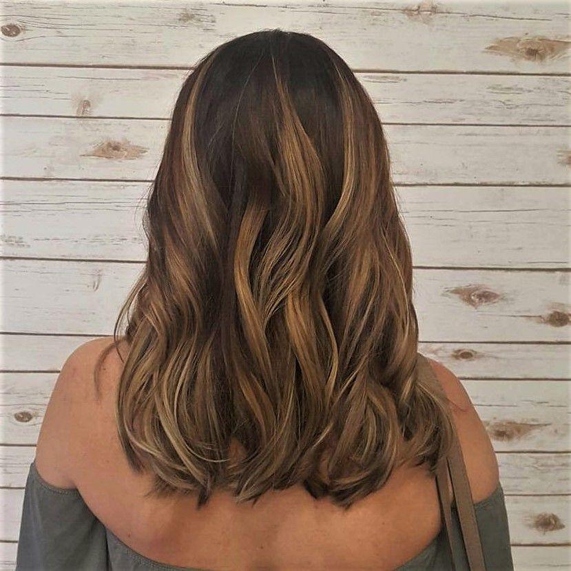 Latest Model – Caramel Honey Balayage Hair