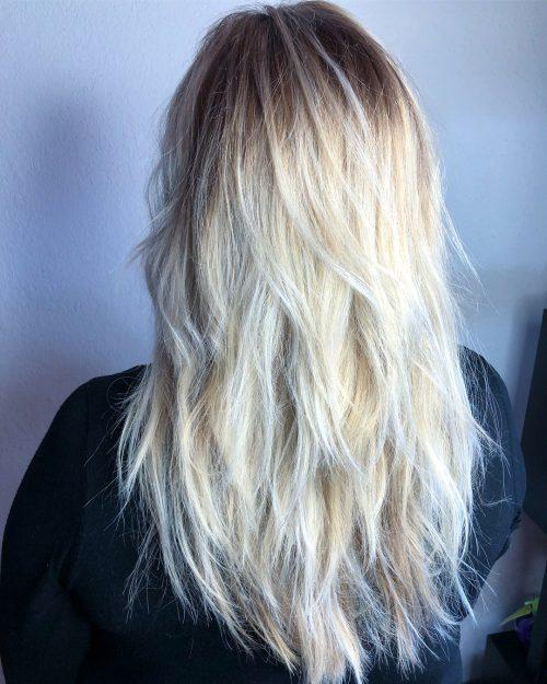 Beautiful Choppy Layers Long Hair