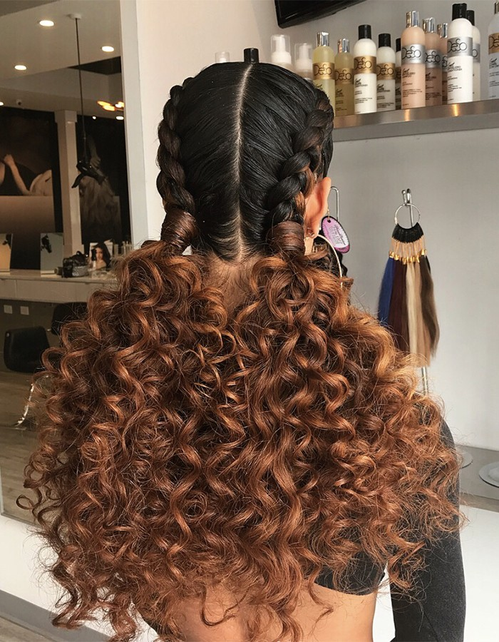 Beautiful Curly Hairstyles With Braids