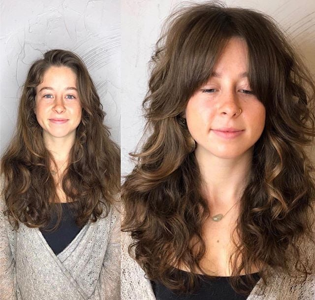 Curtain Bangs on Curly Hair – The Latest Style For 2021