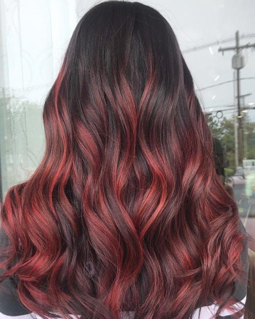 Styles For Dark Hair With Red Highlights