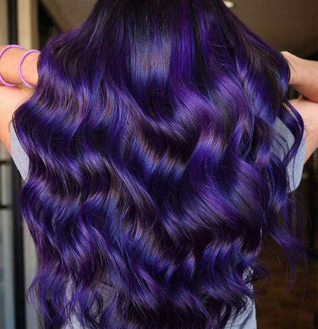 Dark Purple Hair Color Trend For 2021