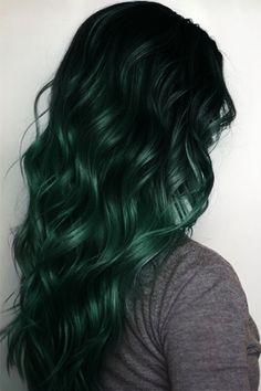 Beautiful Styles Forest Green Hair