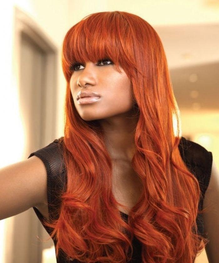 Ginger Orange T Strip Lace hair-extension