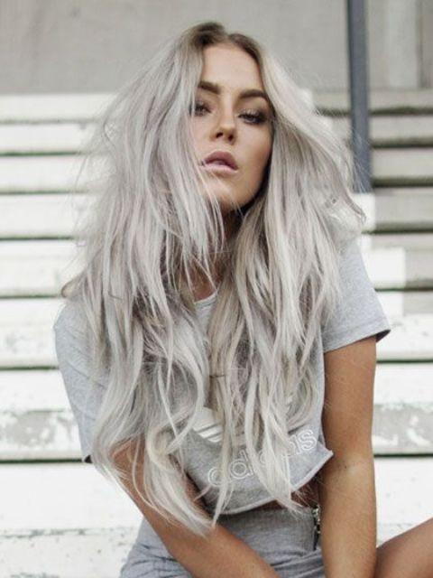 Grey Blonde Hair Model Ideas