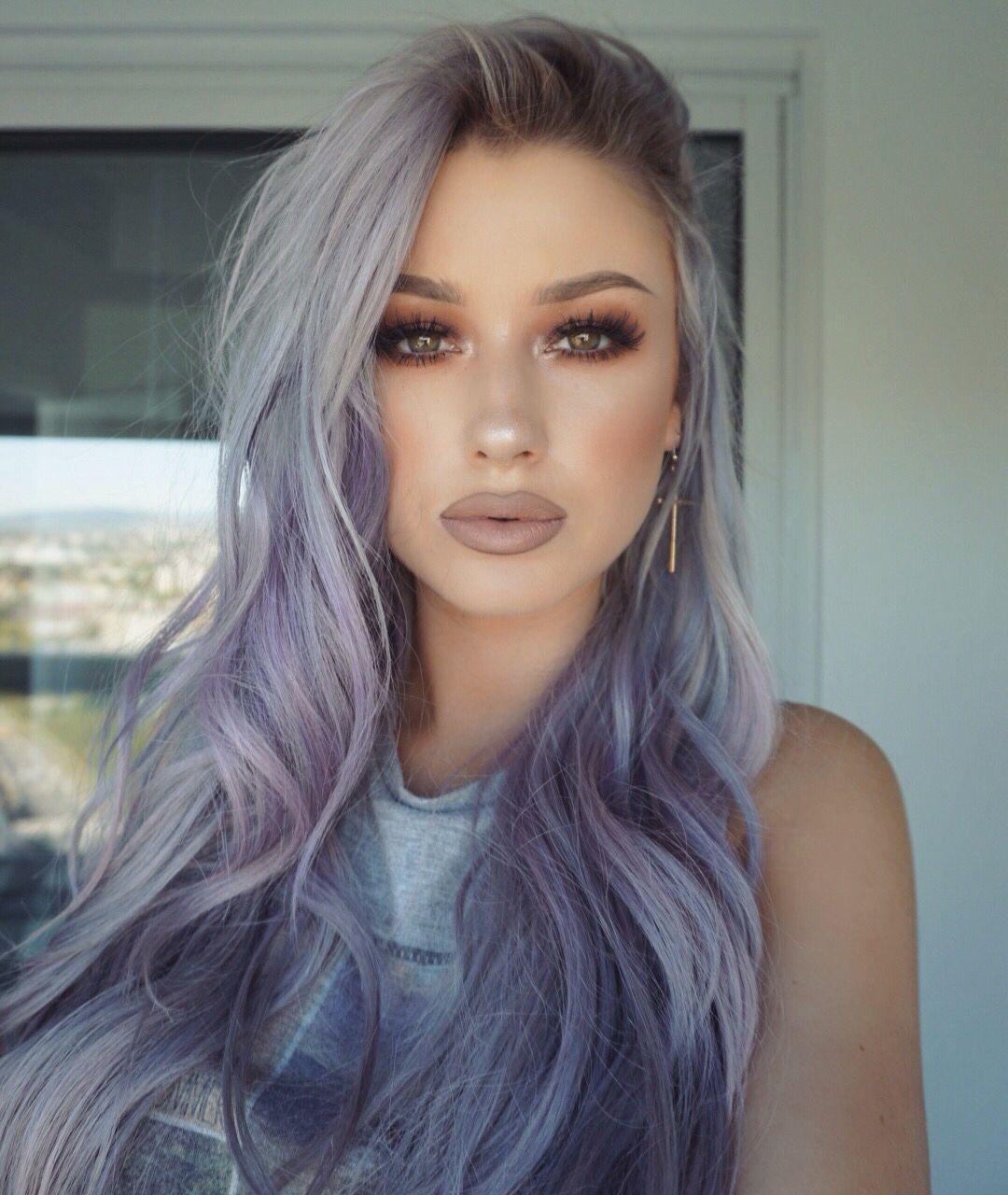 5 Beautiful Styles For Grey Purple Hair