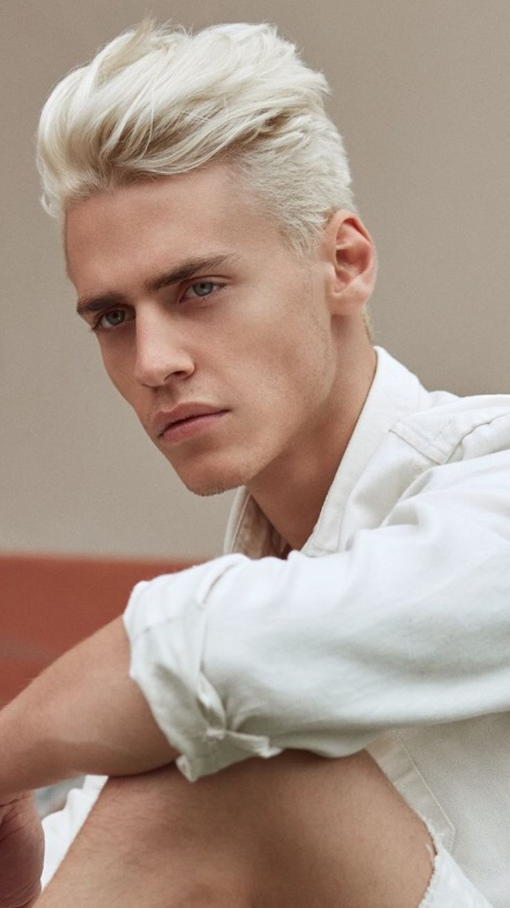 Guys With White Hair – Trendy Design Ideas For This Characteristics