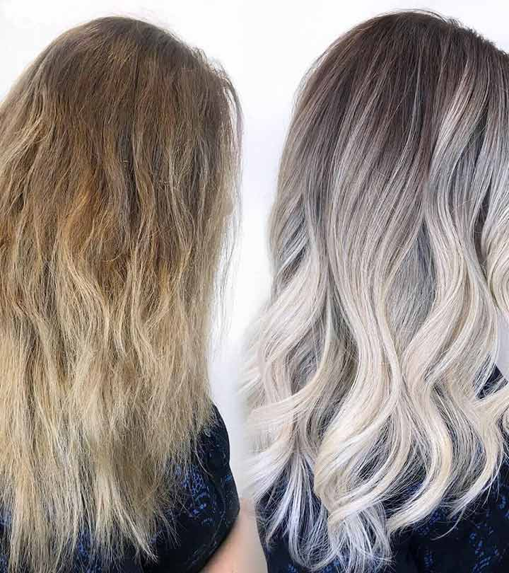Hair Toner Before and After Styles