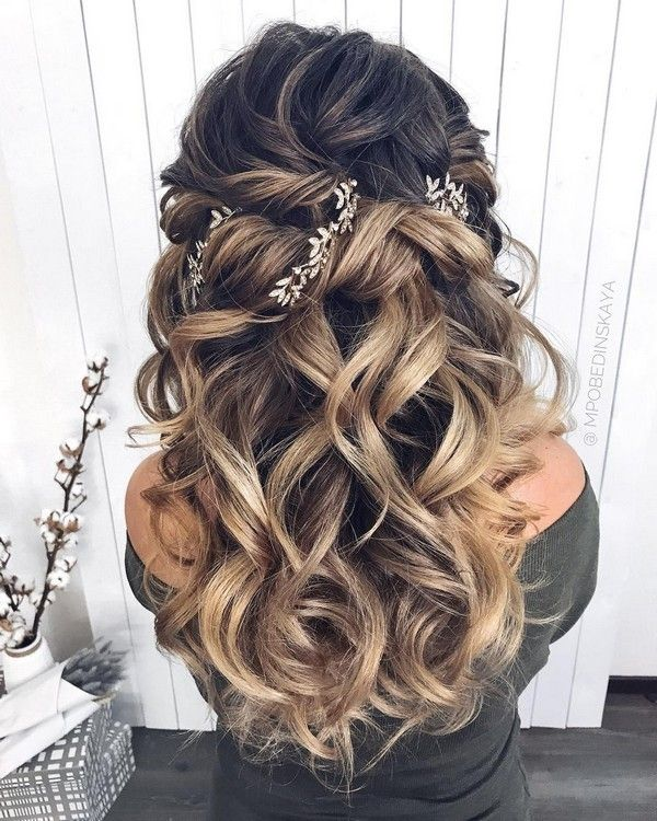 Half up wedding Hair Styles Model ideas