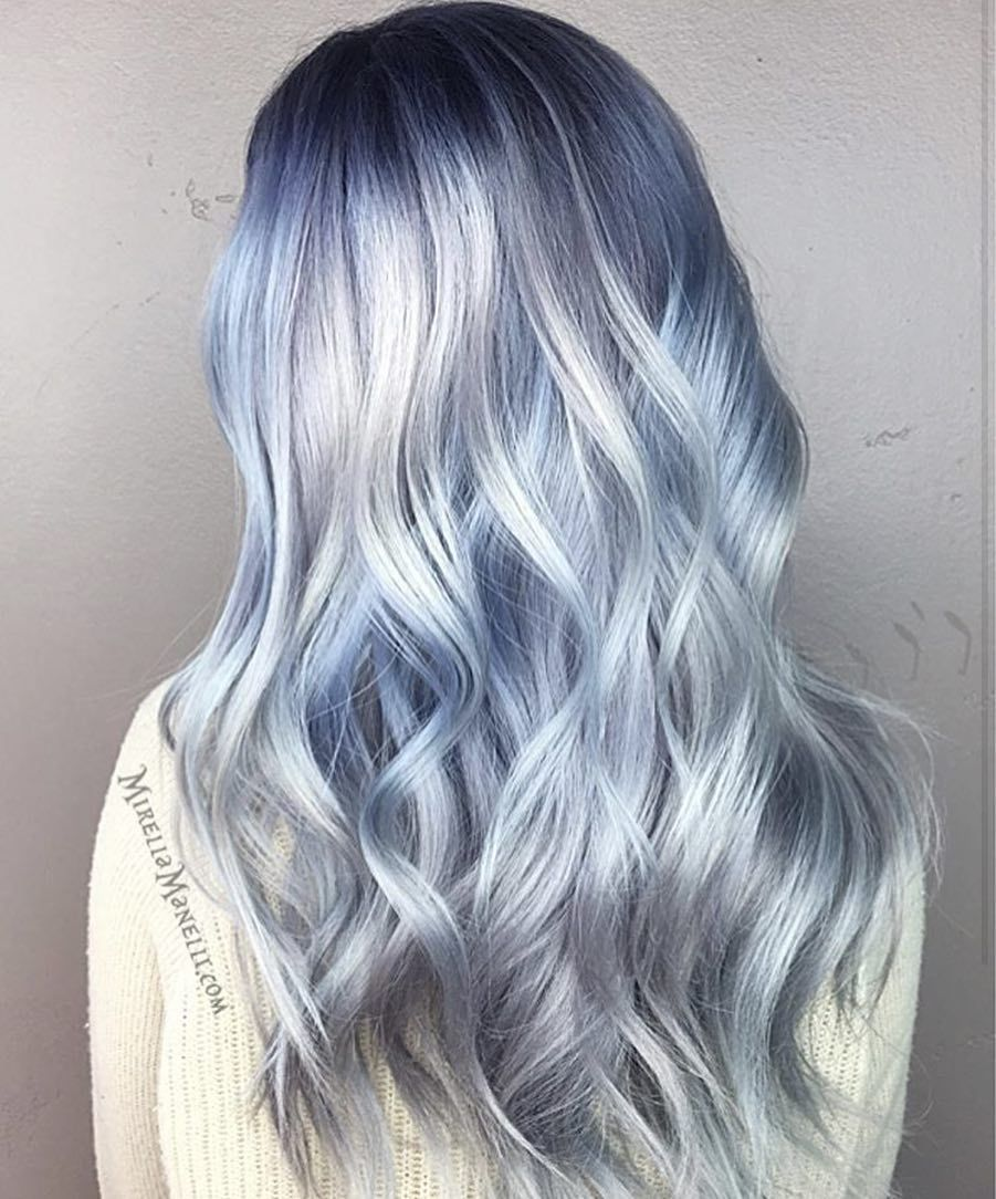 Icy Blue Hair Cut – Trendy Style For Ladies