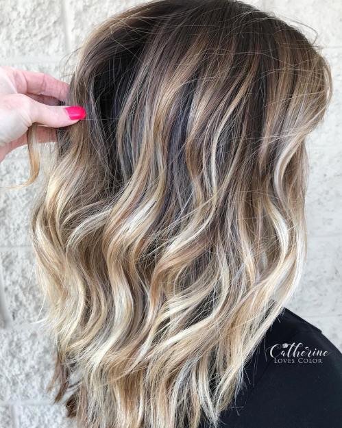 Medium Length Balayage Hair Design Ideas