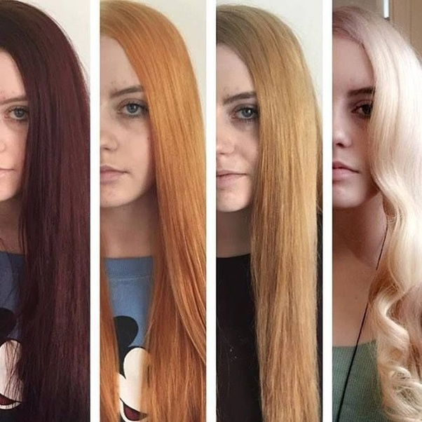 Orange Bleached Hair – Great For Black Designs