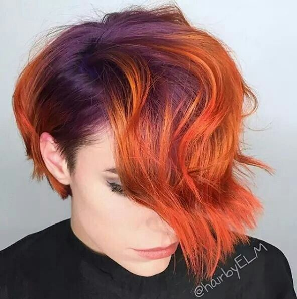 Purple and Orange Hair Styles