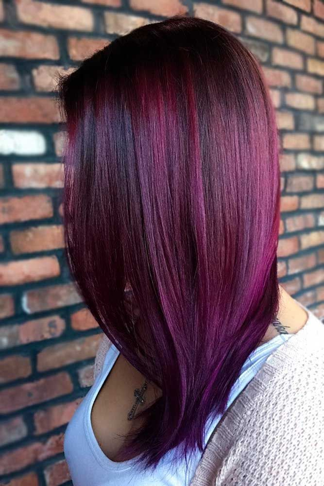 Hot Celebrity Styles – Red Violet Hair Color