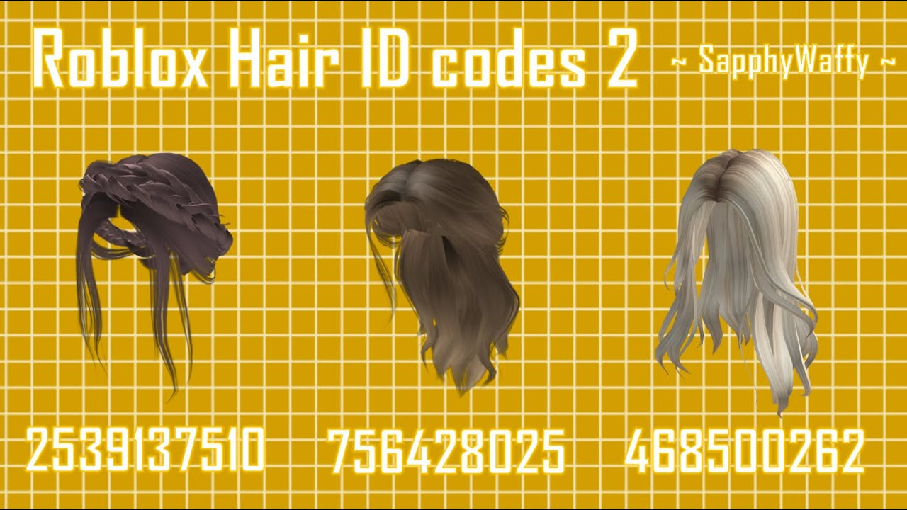 Modern Roblox Hair id Design Ideas – Using the Newest Color System