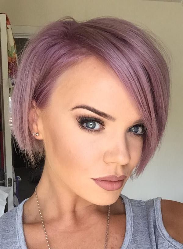 Latest Styles For Short Purple Hair