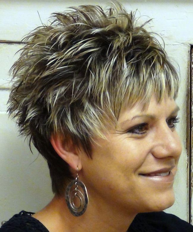 A Short Spiky Hair Stylish Model For Women