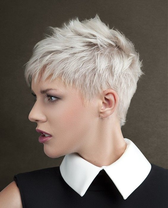 Short White Hair Design Ideas