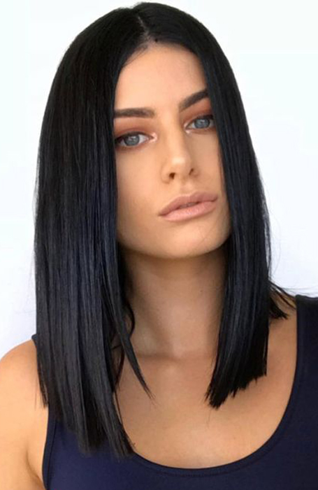 Shoulder Length Black Hair Model Ideas For Men