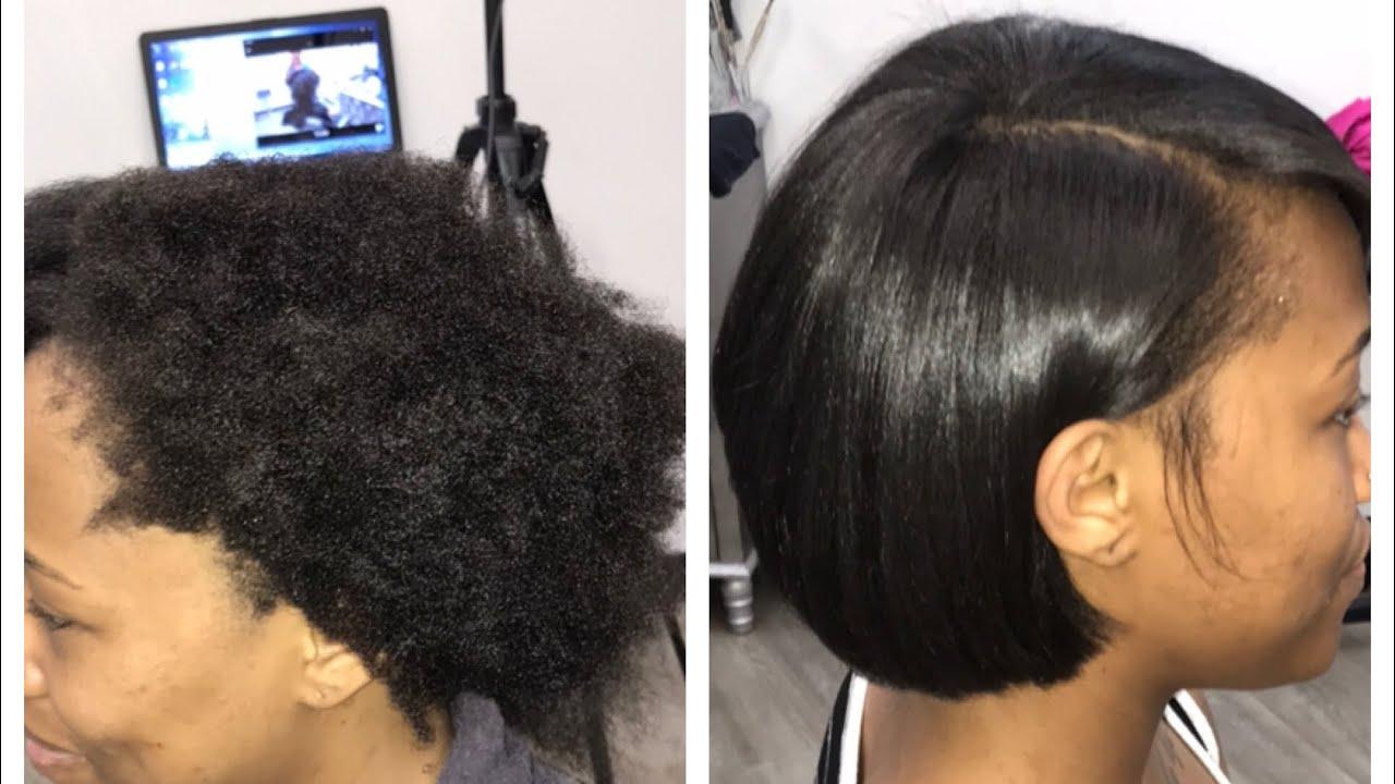 Model Ideas – Silk Press on Short Hair
