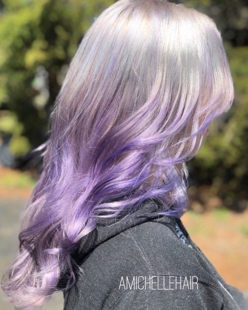 Silver and Purple Hair – Two Design Ideas That Stands Out From the Rest