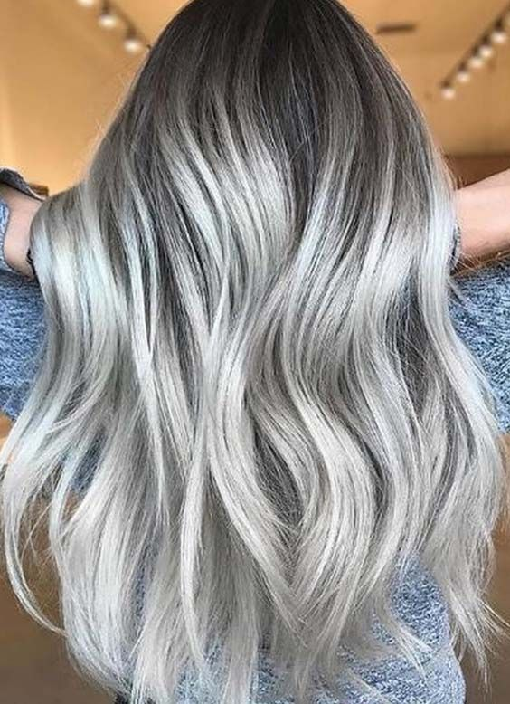 Gorgeous Silver Ash Blonde Hair Design for Men