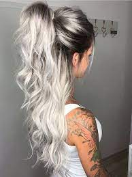 Silver Hair With Dark Roots – A New Style For 2021