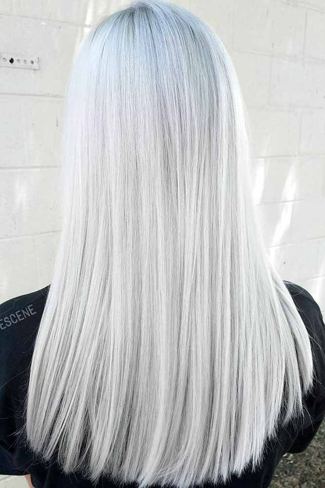 Beautiful Styles With Silver White Hair