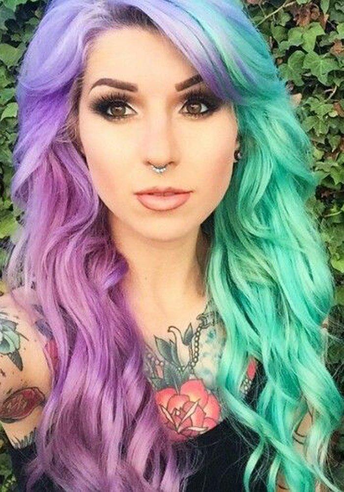 Hair Color Trend – Split Hair Color