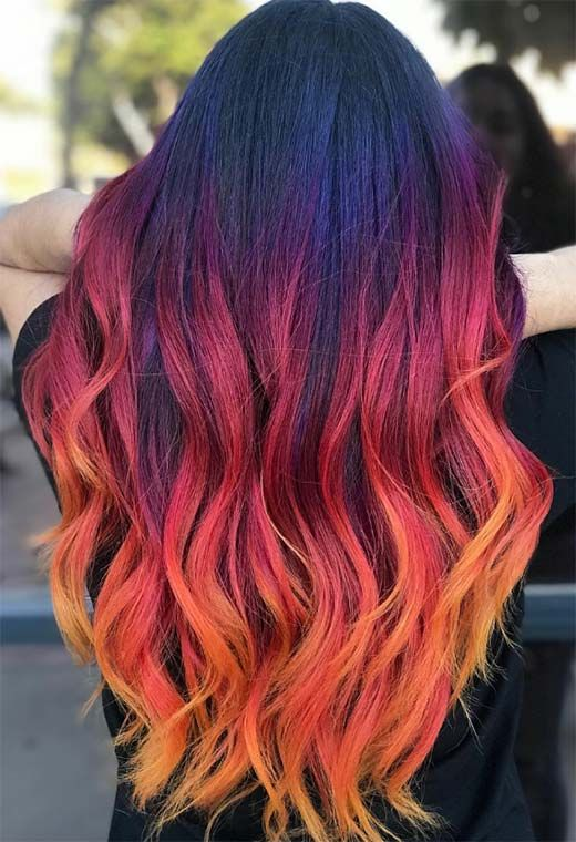 How to Create a Gorgeous Sunset Hair Model