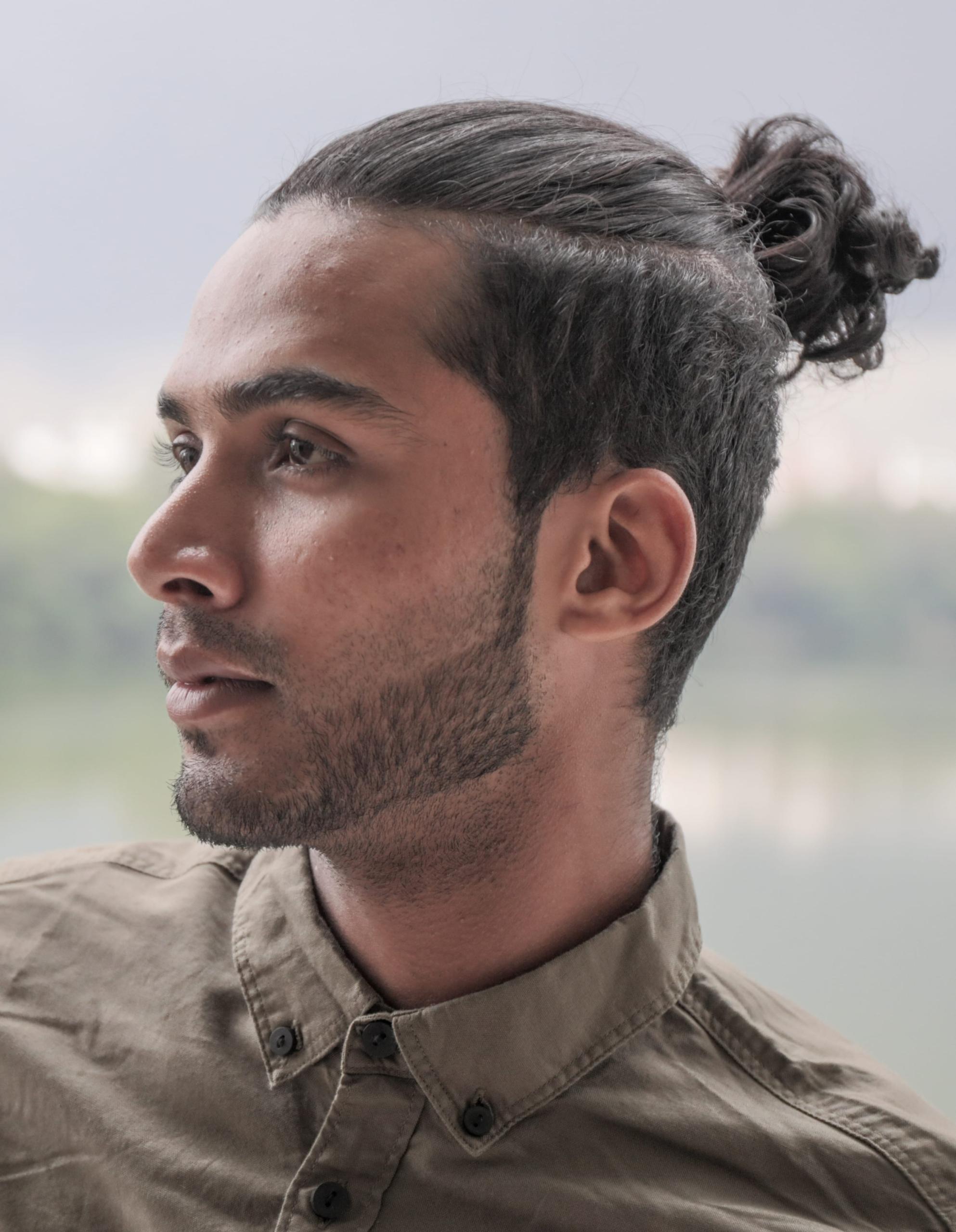 Top Knot Hair Model Ideas