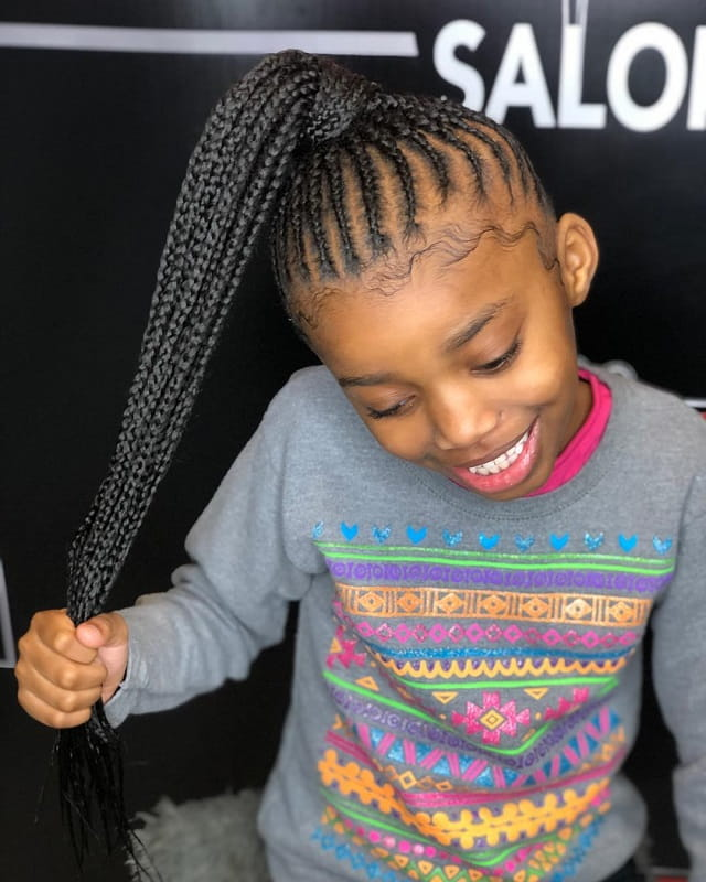 Weave hairstyles For Kids – Model Ideas
