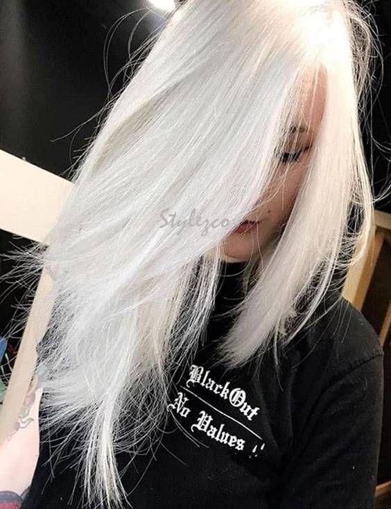 Modern Design Ideas For White Hair Color