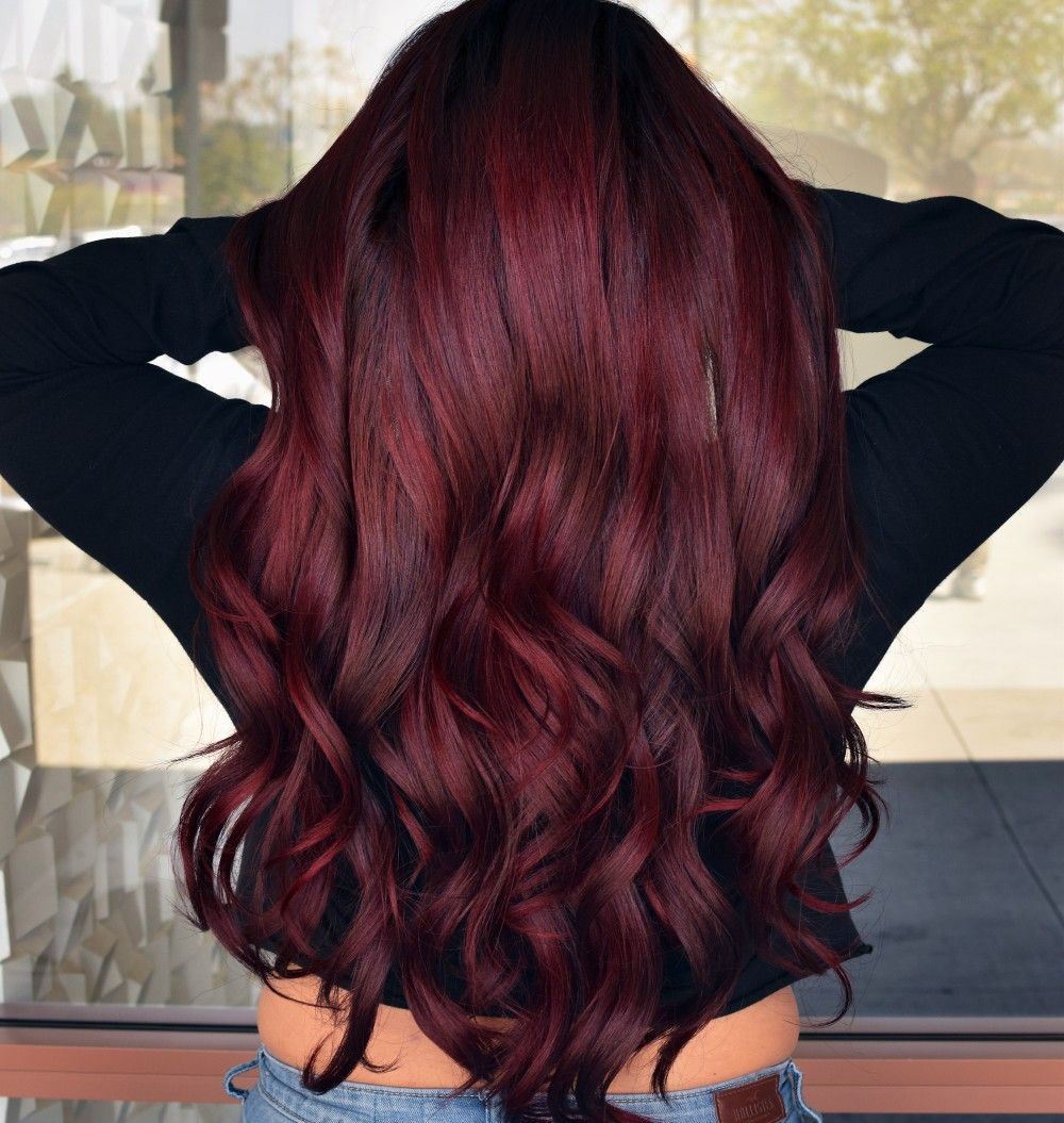 How To Accessorize With Wine Red Hair Color